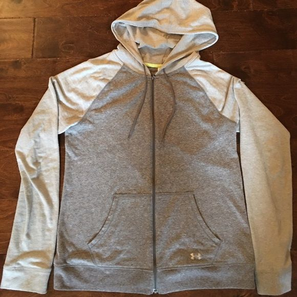 Under Armour Zip Up Sz M Under Armour Zip Up - Charcoal Grey & Light Grey - Size Medium. Excellent used condition. Under Armour Jackets & Coats