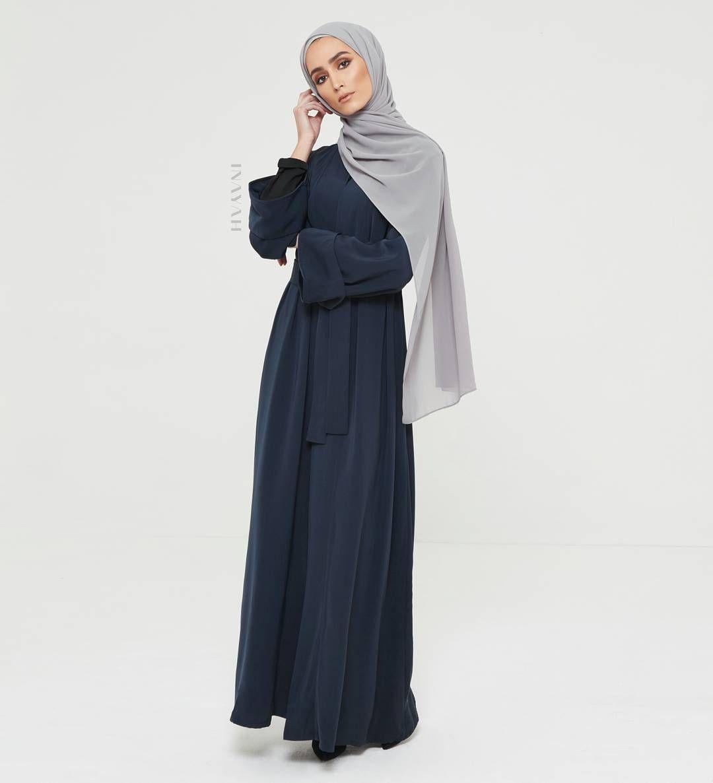 Lace umbrella abaya  INAYAH  A timeless and modern versatile abaya in a navy hue Offset