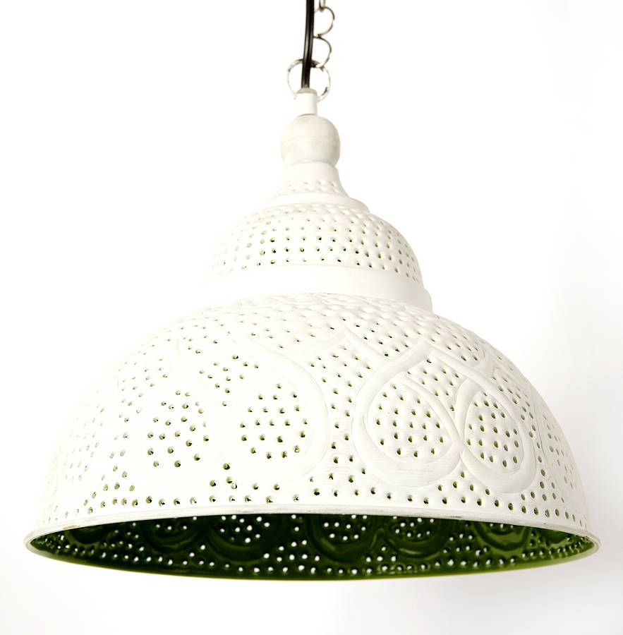Lemonlu Indian Painted Lamp | Lime Green.... lovely lovely different ...
