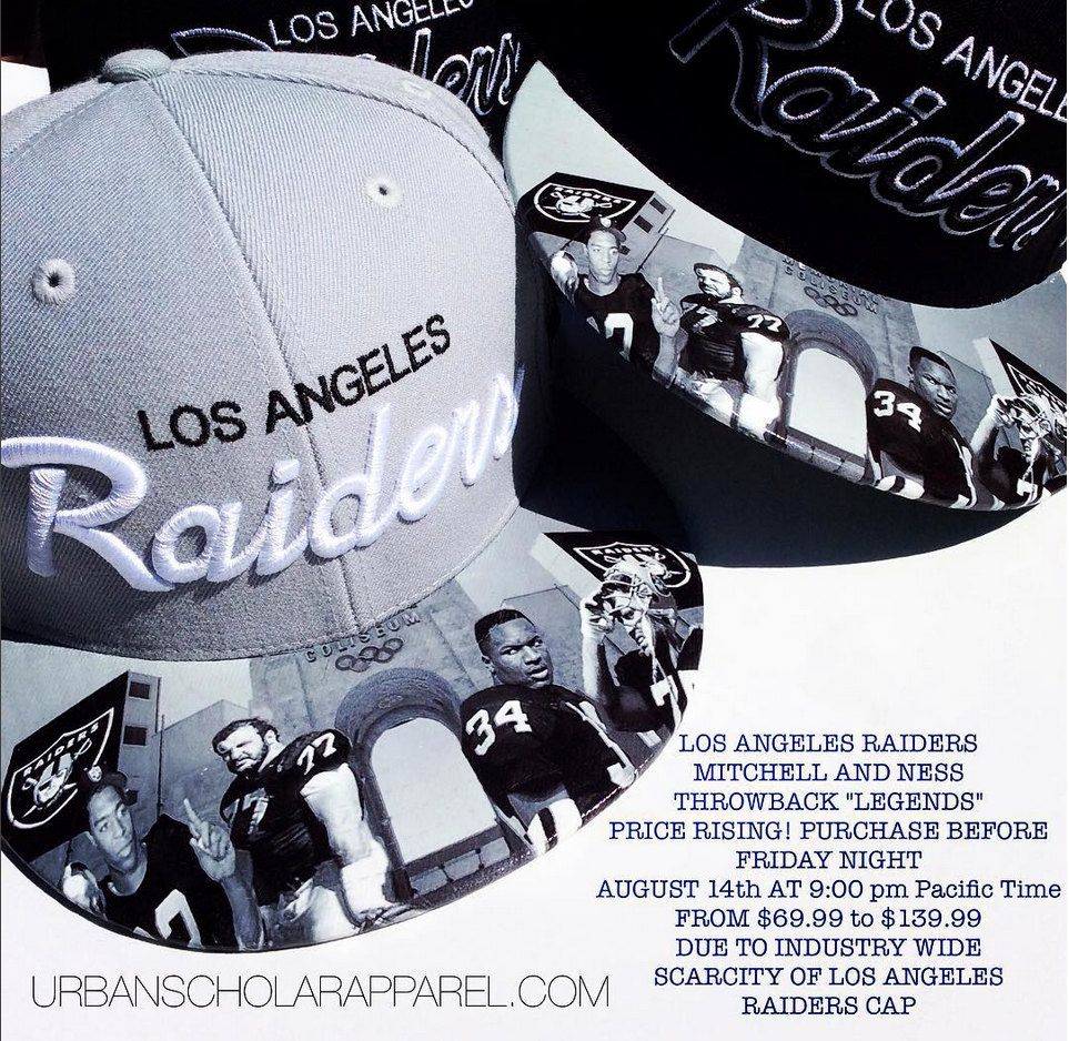 c2b4751a8fd Mitchell and Ness Raiders Legends Colisieum Custom Hat by  UrbanScholarApparel on Etsy
