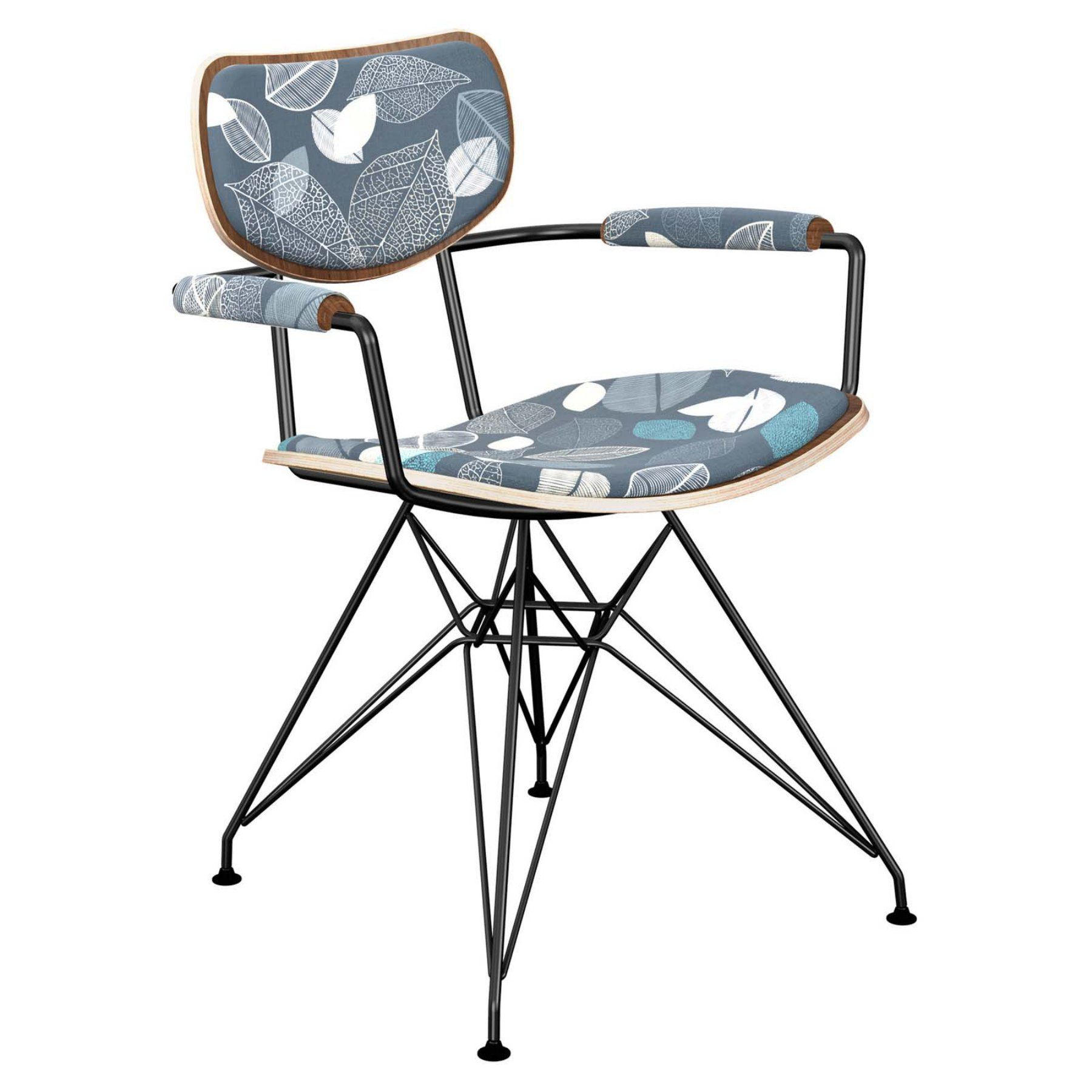 Nyekoncept Harvey Botanical Blues Eiffel Dining Arm Chair  16006316
