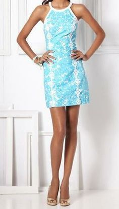 585615267f6170 Lilly Pulitzer Pearl Halter Shift Dress | Every Day Style in 2019 ...
