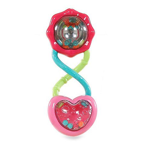Bright Starts Pretty In Pink Rattle And Shake Barbell Bright Starts Baby Rattle Rattles