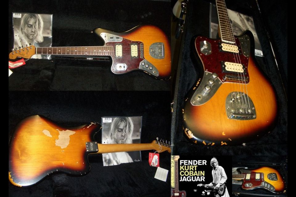 kurt cobain fender jaguar nirvana nice kurt cobain. Black Bedroom Furniture Sets. Home Design Ideas
