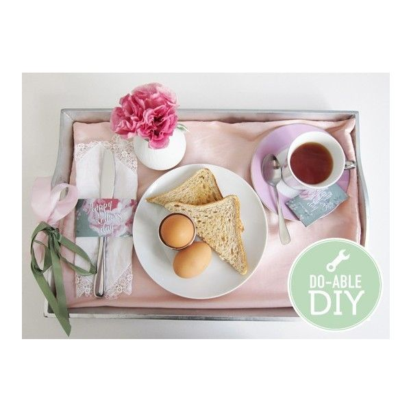 nifty CRAFTS / Mother's Day Breakfast in Bed {DIY & Printables} ❤ liked on Polyvore
