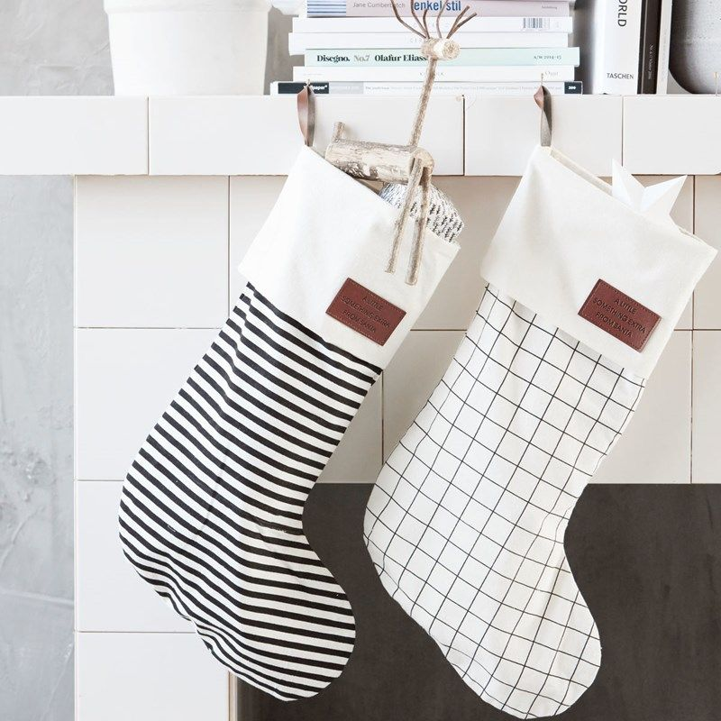 modern christmas stockings from house doctor - Modern Christmas Stockings