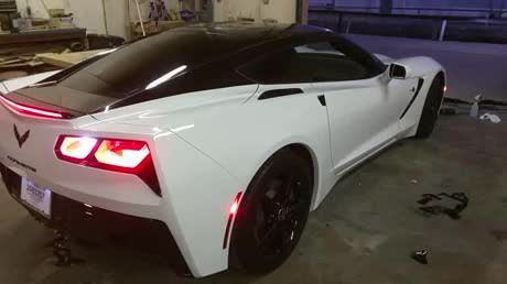 White Corvette I just wrapped. Black top and accents.