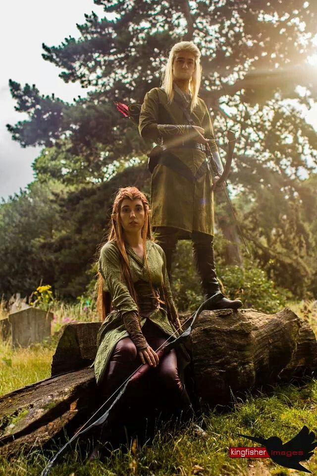 Tauriel And Legolas Cosplay The Hobbit Hobbit Cosplay Legolas