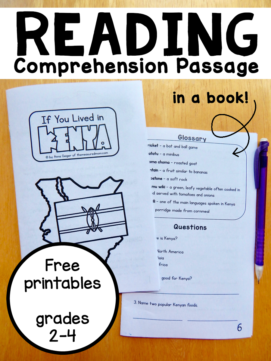Reading Comprehension Passage In A Book Kenya Improve Reading Comprehension Reading Comprehension Reading Comprehension Passages [ 1200 x 900 Pixel ]