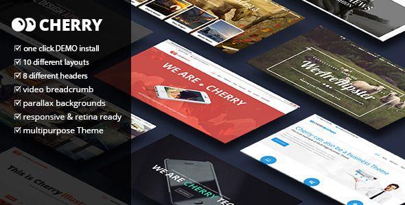 Cherry - A Multipurpose One & Multi Page Theme - Creative WordPress