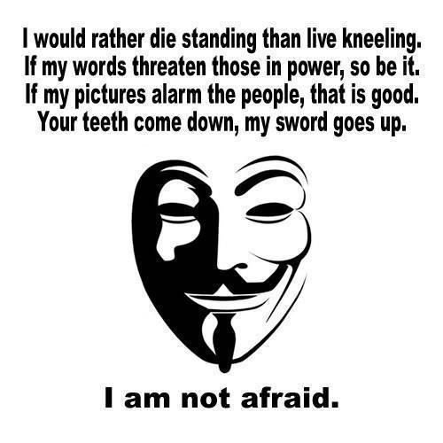 I Would Rather Die Standing Than Live Kneeling If My Words