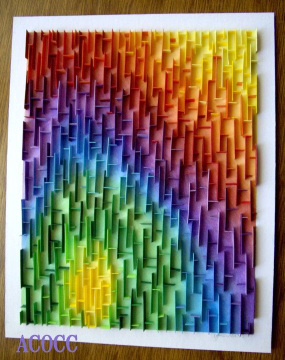 Abstract No. 32 Paper Quilling with Watercolour Wall Art by aCoCC