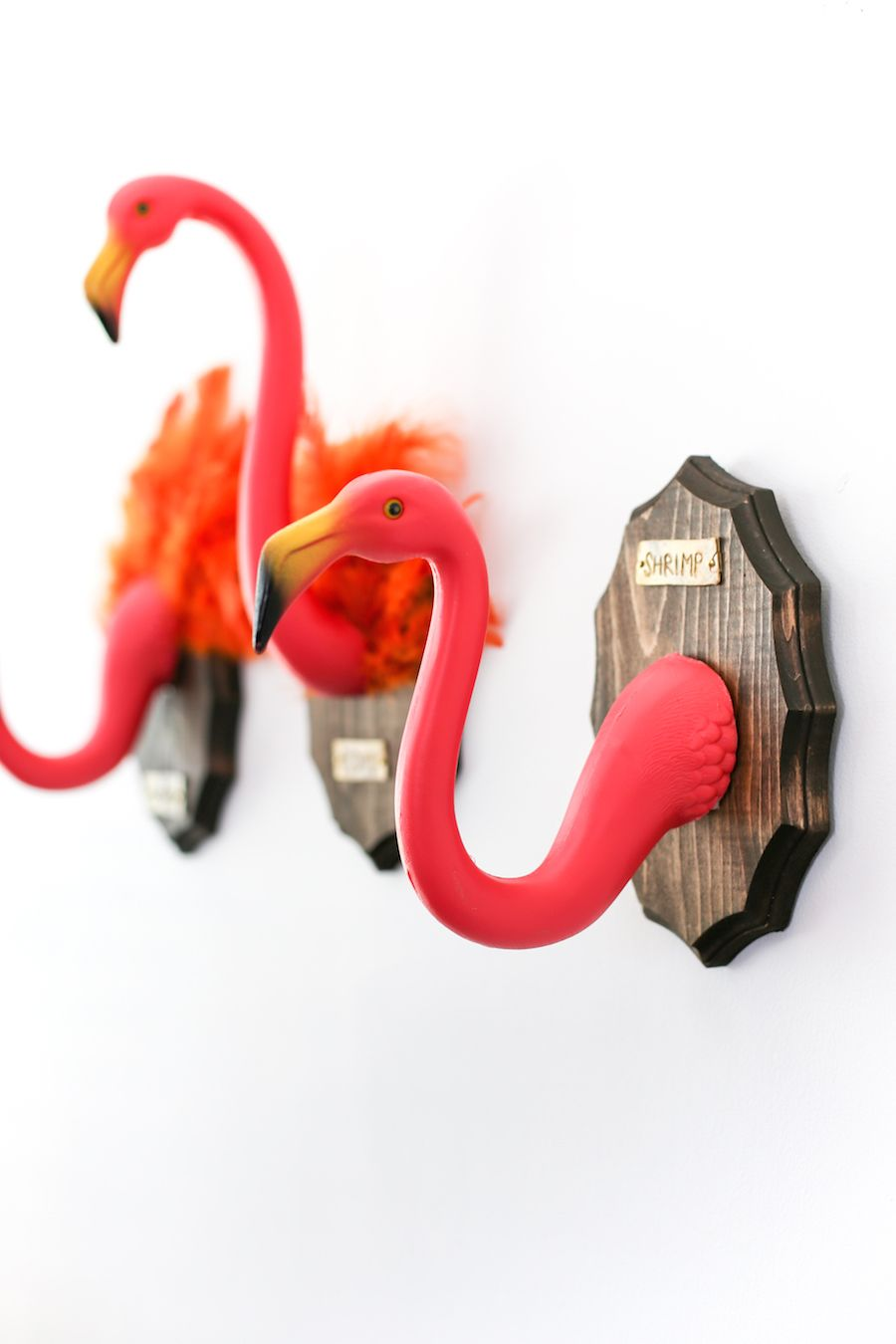 christmas flamingo bathroom decor