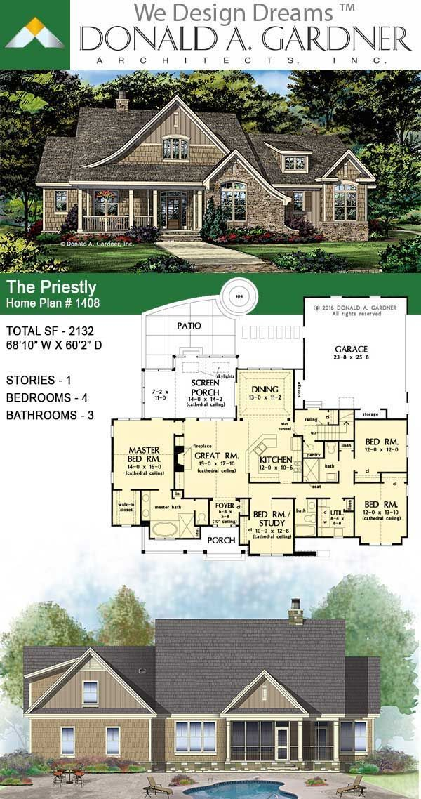 The Priestly | Rustic Cottage House Plan