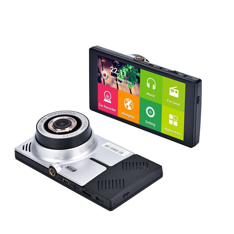 """New 5"""" Android Touch Car DVR GPS Navigation Rearview"""