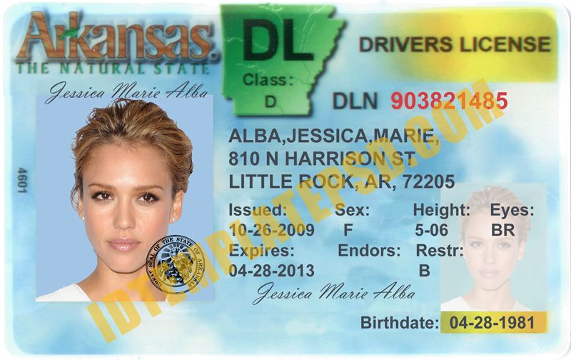 this is arkansas  usa state  drivers license psd