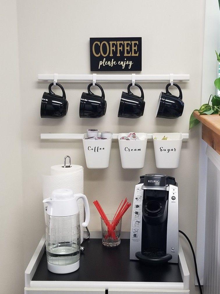Coffee Bar Using Ikea Sunnersta Railing Less Expensive Under 10
