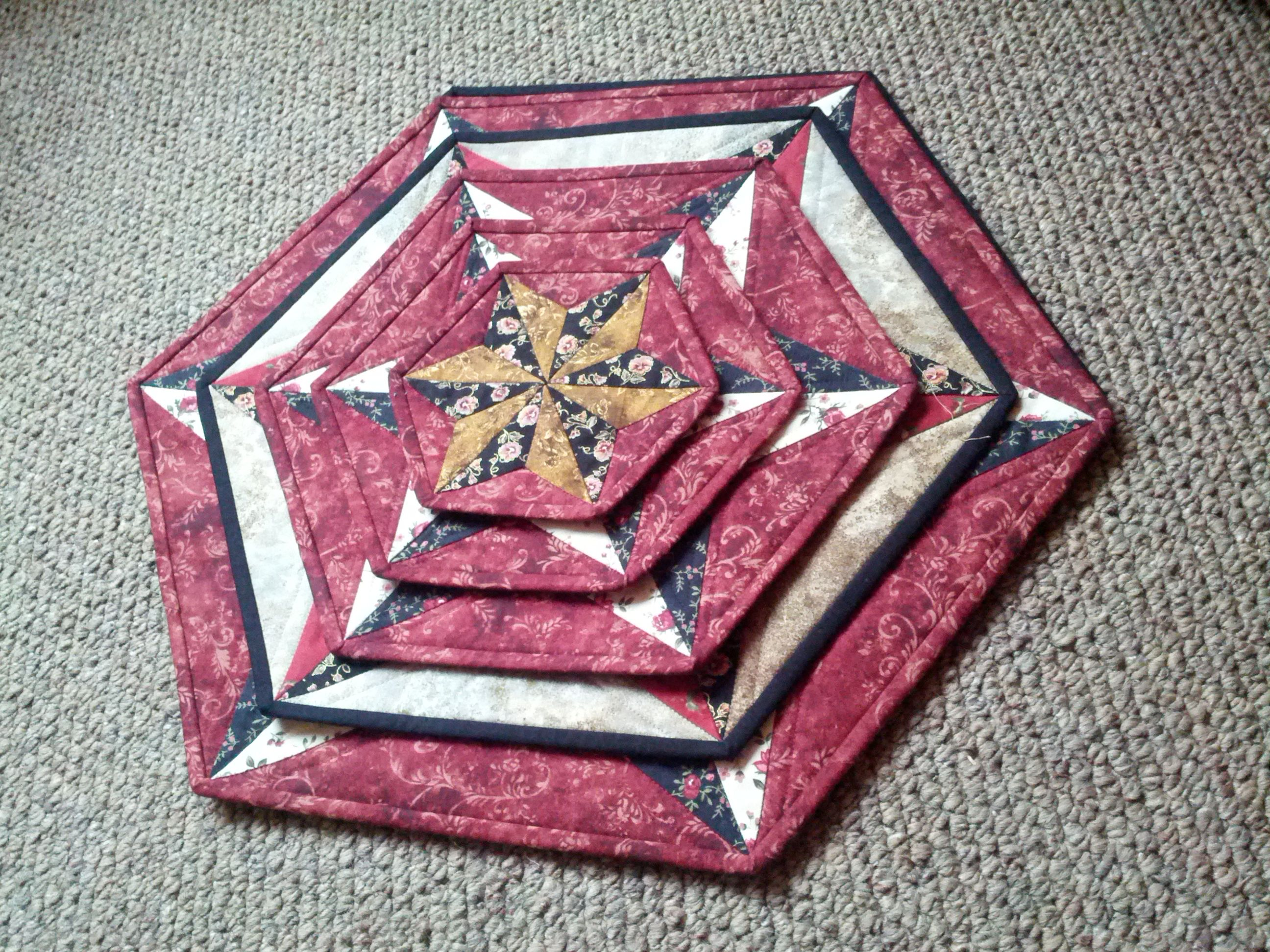These were made with 120° Triangle Ruler http ...