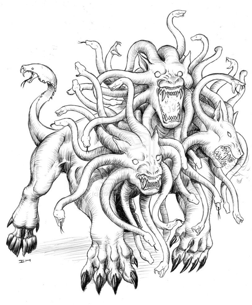 Greek Fabulous Creatures And Monsters Coloring Pages Cerberus The 3 Headed Dog Guadian Of Monster Coloring Pages Animal Coloring Pages Animal Coloring Books [ 1061 x 821 Pixel ]