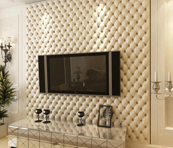 Maison d coration murale continental dimensionnelleprix grain cuir motif 3d papier peint mural - Decoration television murale ...