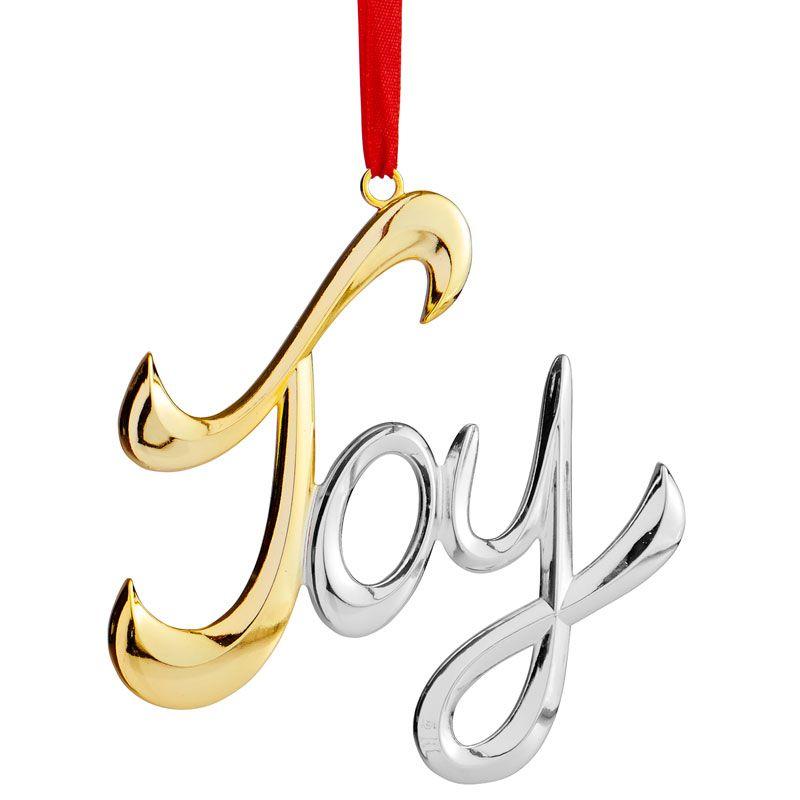 Joy  Nambe Christmas Tree Decoration  Holiday Decor and