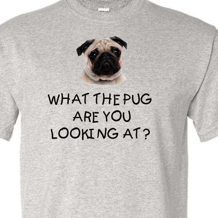 What The Pug Are You Looking At Pug Shirt Pug Lovers Shirt For