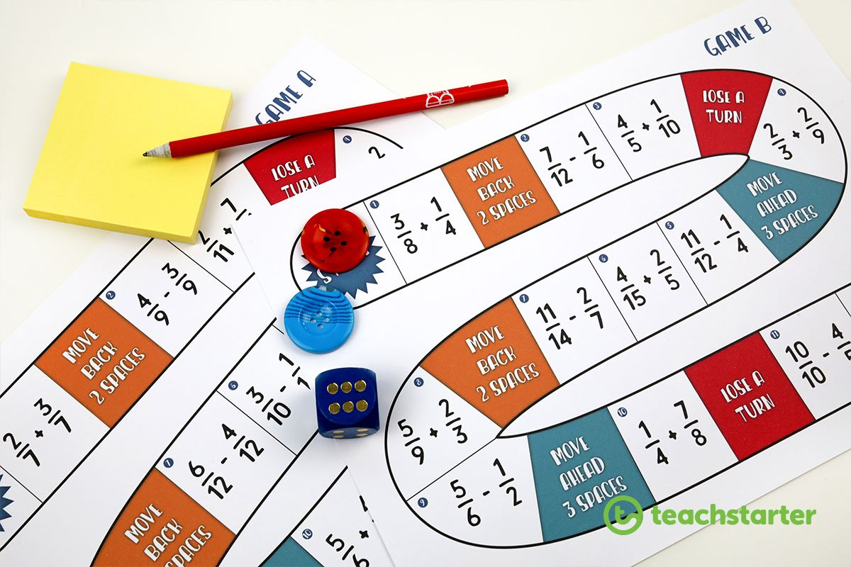 Fraction Frenzy Board Game Teaching Resource
