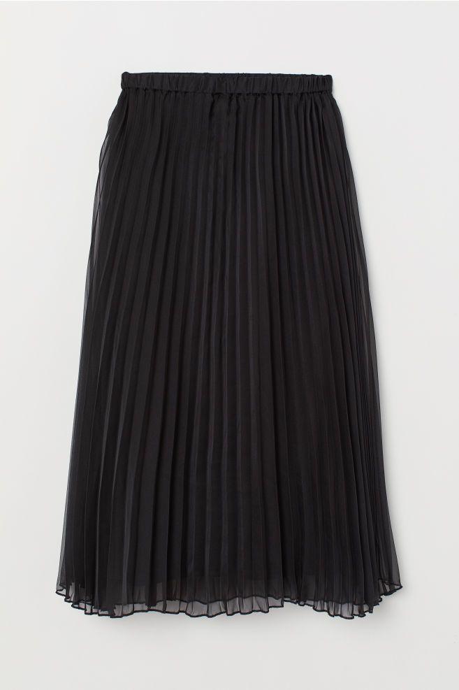 993b782a2f Falda plisada - Negro - MUJER