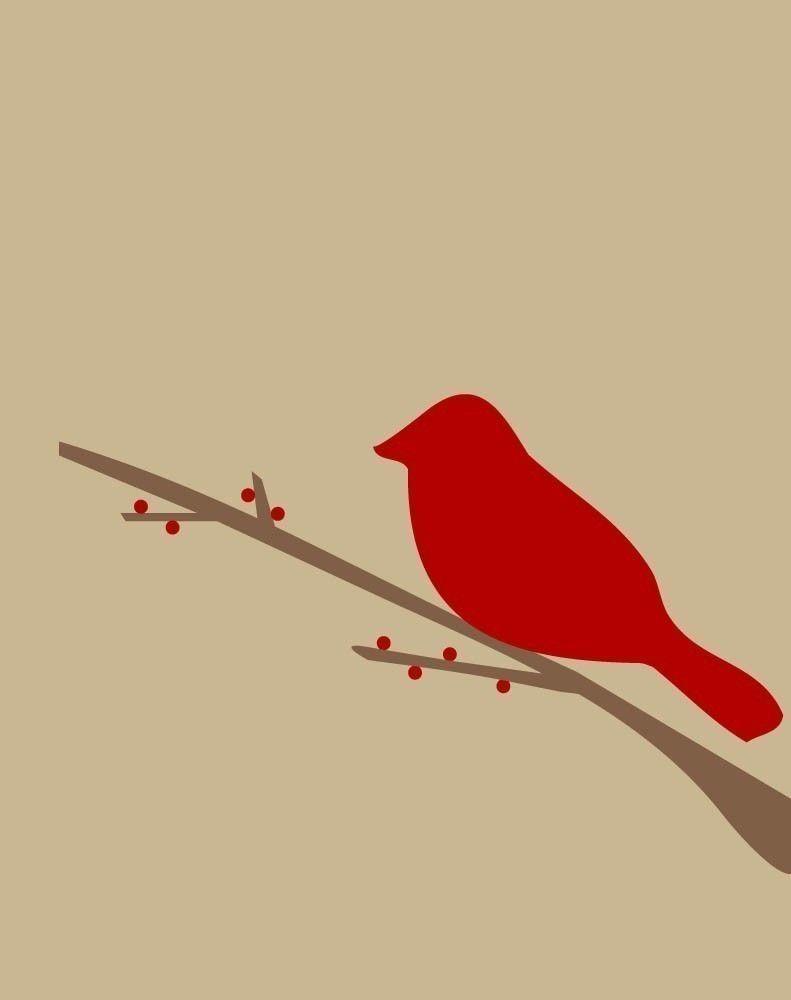 Cardinal Bird! | Bird silhouette, Silhouette clip art ...  |Cardinal Silhouette Tattoo