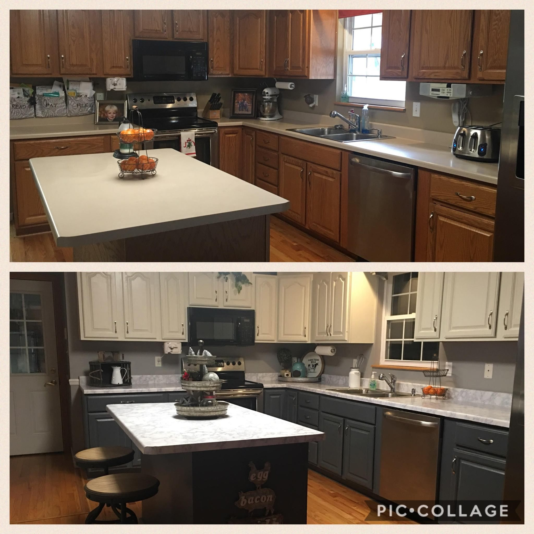 Kitchen Cabinet Makeover Customer Submission Kitchen Cabinets Kitchen Cabinets Makeover Painting Kitchen Cabinets