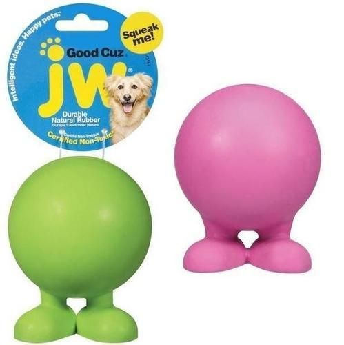 Jw Pet Good Cuz Rubber Ball Dog Toy Sz Medium Products Dog