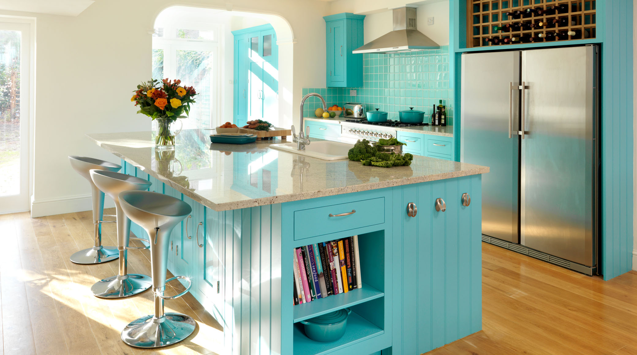 Painting of Inspiring Blue Kitchen Décor Ideas | Home Decorations ...