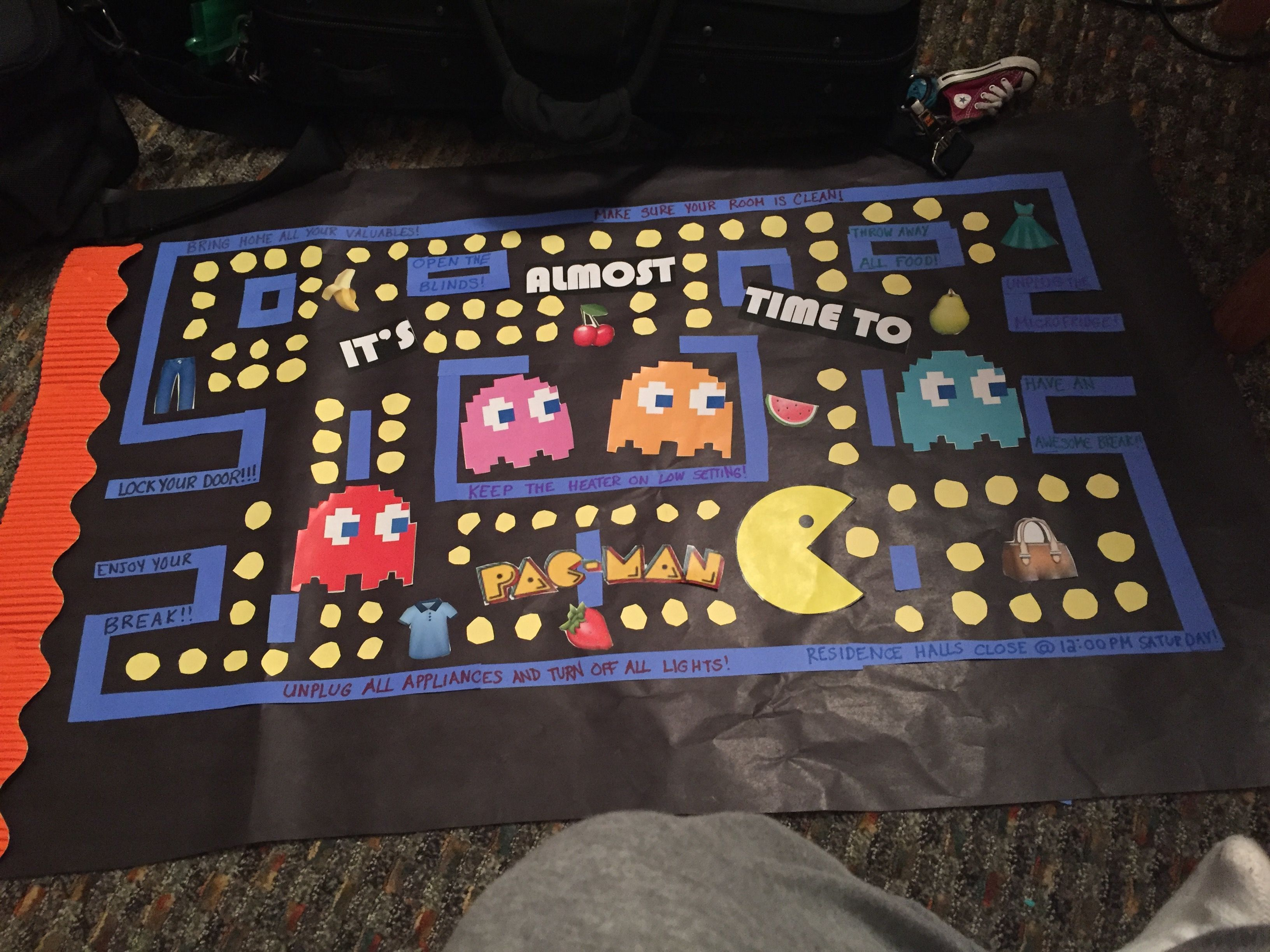 Pac Man Closing Bulletin Board RA RA Stuff Pinterest