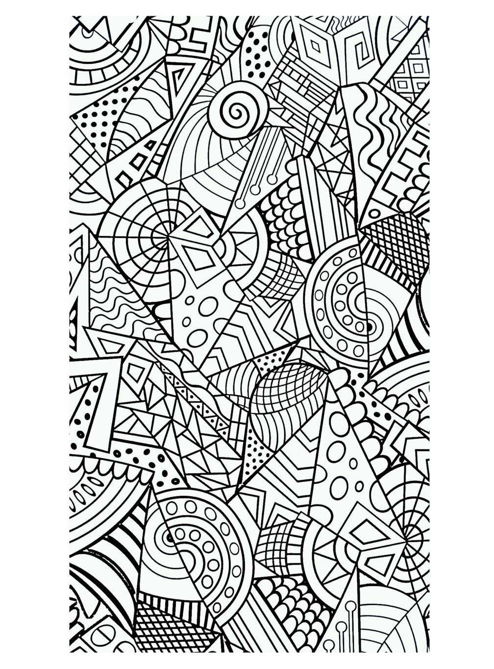 Harmonious forms - Zen and Anti stress Coloring Pages for Adults - Just Color - Page 2 (With ...