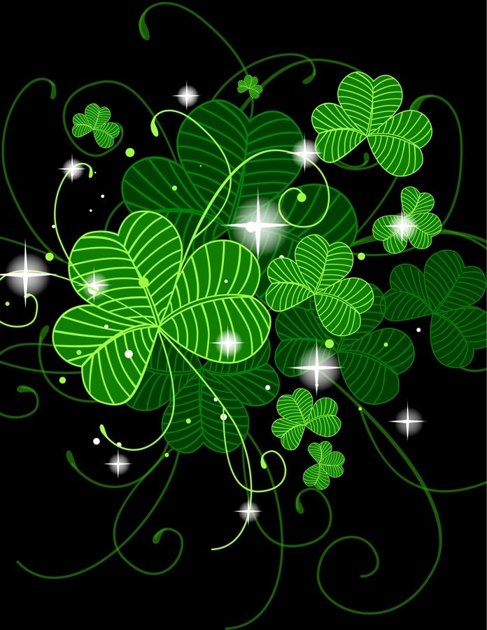 Lucky Shamrocks Make The Ireland Shirt Apparel Even More Awesome St Patricks Day Wallpaper Shamrock Pictures St Patrick S Day Decorations