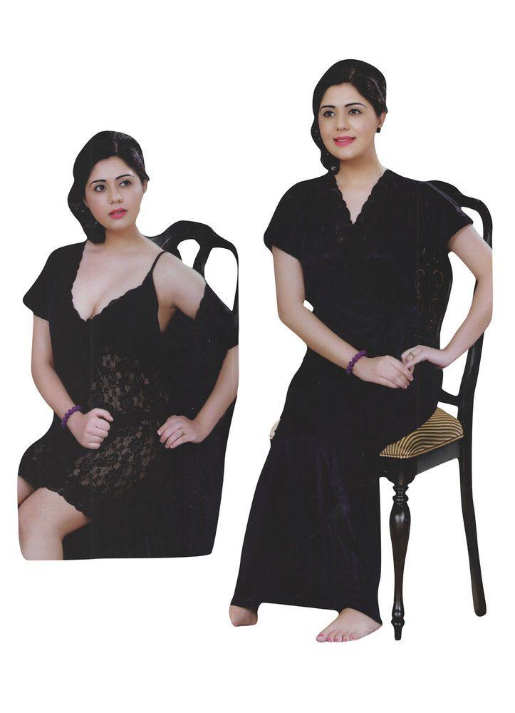 edf9f44c03 Indiatrendzs Women Fancy Night Dress Net Transparent Satin Nighty With Robe  | eBay #nighty #womens #nightwear #sexwear #hotnighty #nightwithrobe #sale