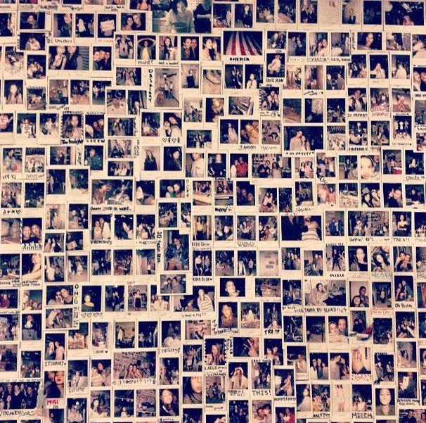 Polaroid wall  Photography  Pinterest