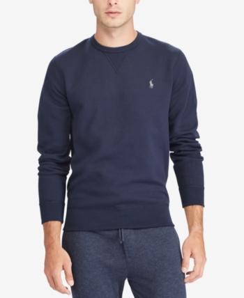 97b042775 Polo Ralph Lauren Men s Double-Knit Sweatshirt - Navy 2XL