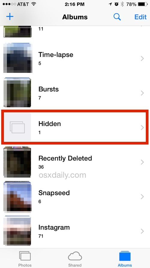 How to Hide Photos on iPhone & iPad with the iOS Hidden