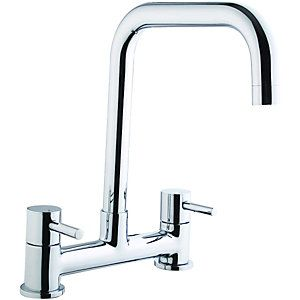 Wickes Seattle Bridge Kitchen Sink Mixer Tap Chrome | Sink mixer ...