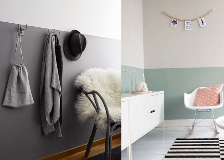 Two tone muren om te smullen voor het huis en ideeën