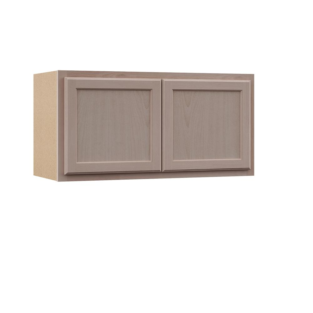 Hampton Bay Hampton Assembled 36x18x12 In Wall Bridge Cabinet In Unfinished Beech Kw3618 Uf The Home Depot Wood Door Frame Beautiful Furniture Pieces Solid Wood Doors