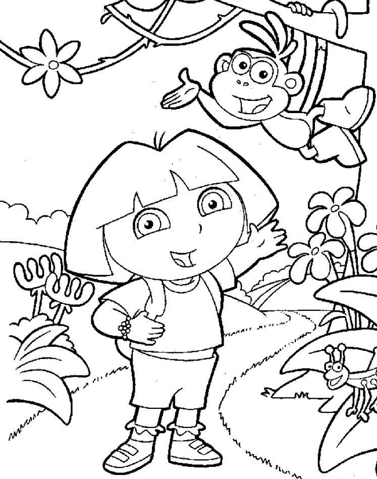 Pin By Linda Forguson On Coler Wheel Dora Coloring Nick Jr
