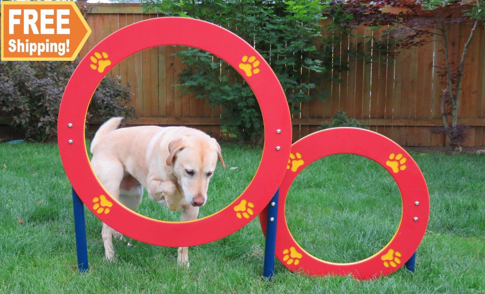 Double Hoop Jump Dog Park Design Dog Agility Dog Park Equipment