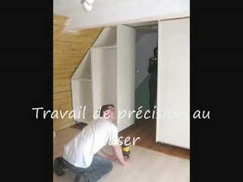 Monter Un Placard Sous Pente Gedimat Ma Maison De A A Z Youtube Meuble Sous Escalier Amenagement Placard Porte Placard Coulissante