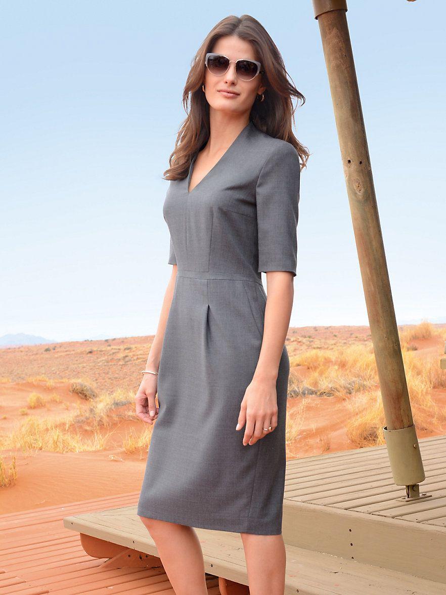 Kleid 1/2-Arm Windsor blau Windsor h7Gw2aQ