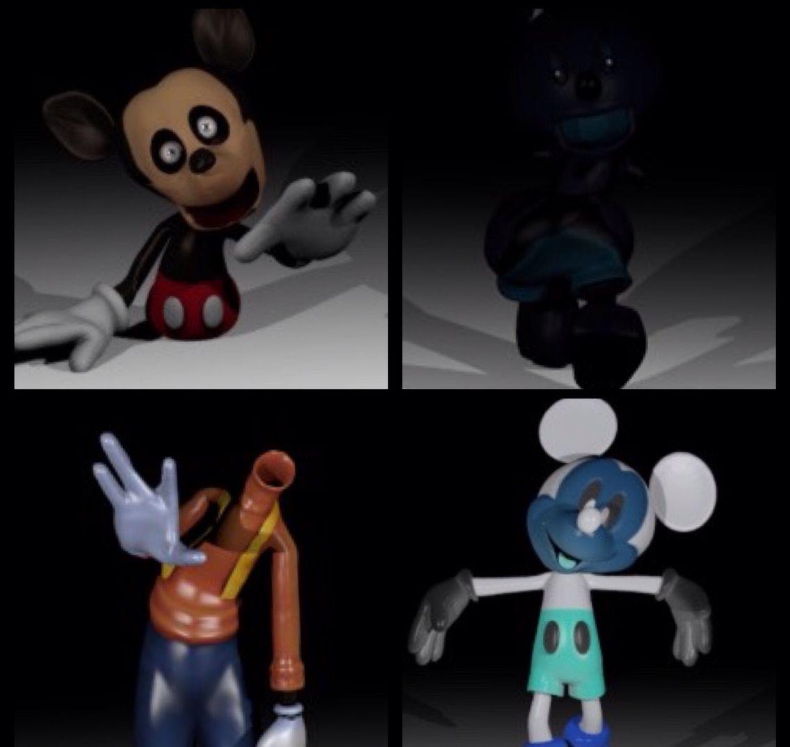 Five Nights At Treasure Island Ghoul Mickey Blind Mickey Oswald And Goofy Treasure Island Goofy Five Night