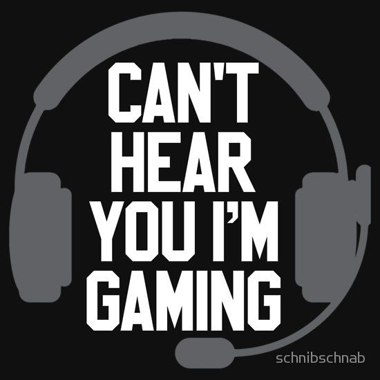 'Can´t heare you i´m gaming' Essential T-Shirt von schnibschnab