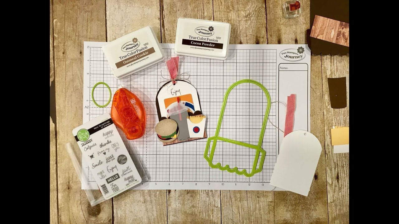 Fun stampers journey burger fries gift card holder