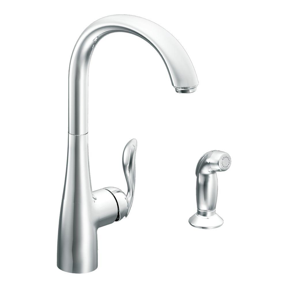 Moen Arbor High Arc Single Handle Standard Kitchen Faucet With
